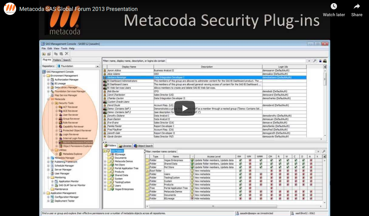 Metacoda SASGF 2013 Presentation on YouTube