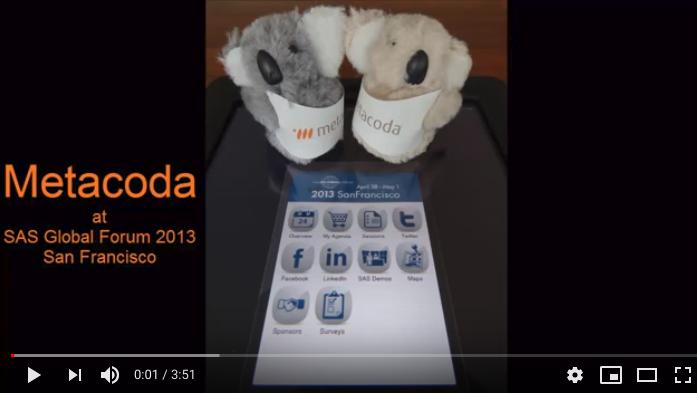 Metacoda Koalas at SASGF 2013 YouTube video