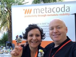 SASProfs Michelle and Paul with Metacoda Koalas