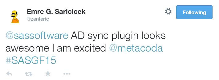 SASGF15 Metacoda Identity Sync Tweet