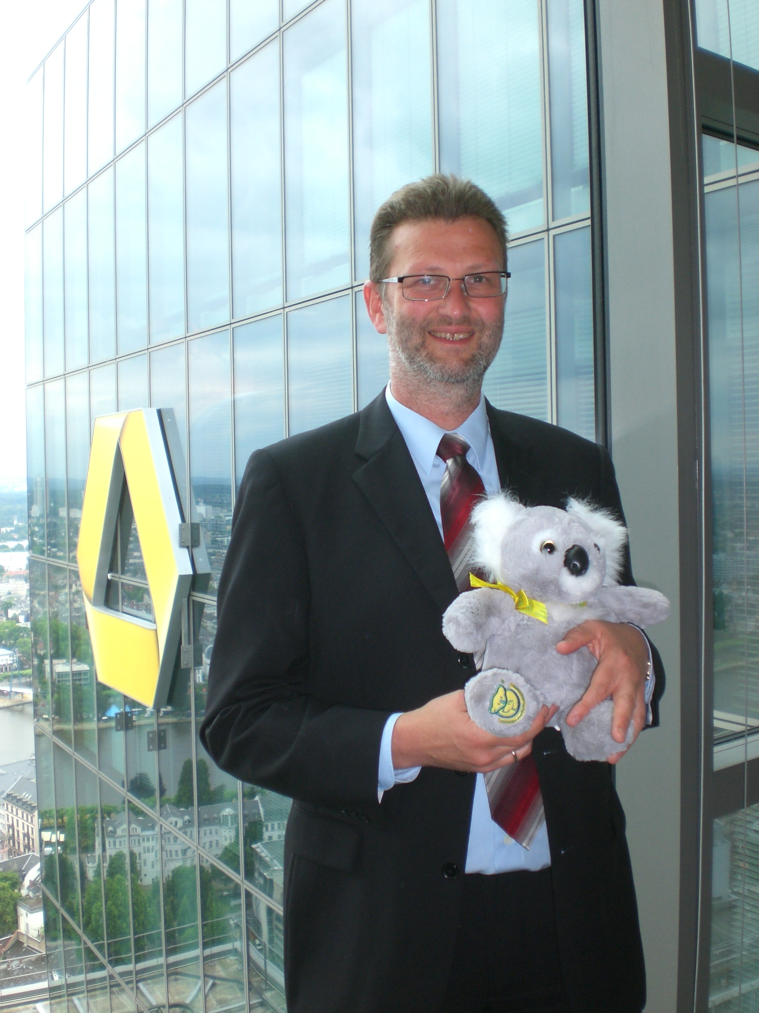 "Dr Wolfgang Schwan at 36th floor of ""Gallileo"" in Frankfurt"