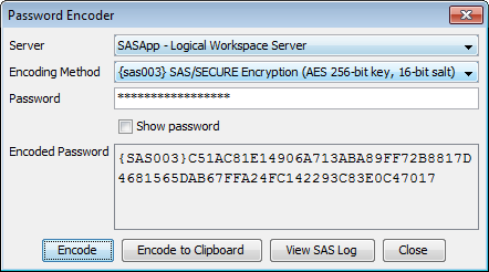Password Encoder Dialog