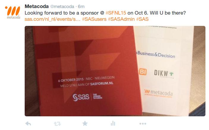 Metacoda Tweet #SFNL15