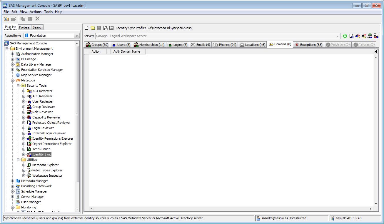 Metacoda Security Plug-ins: Identity Sync (Domains Tab)