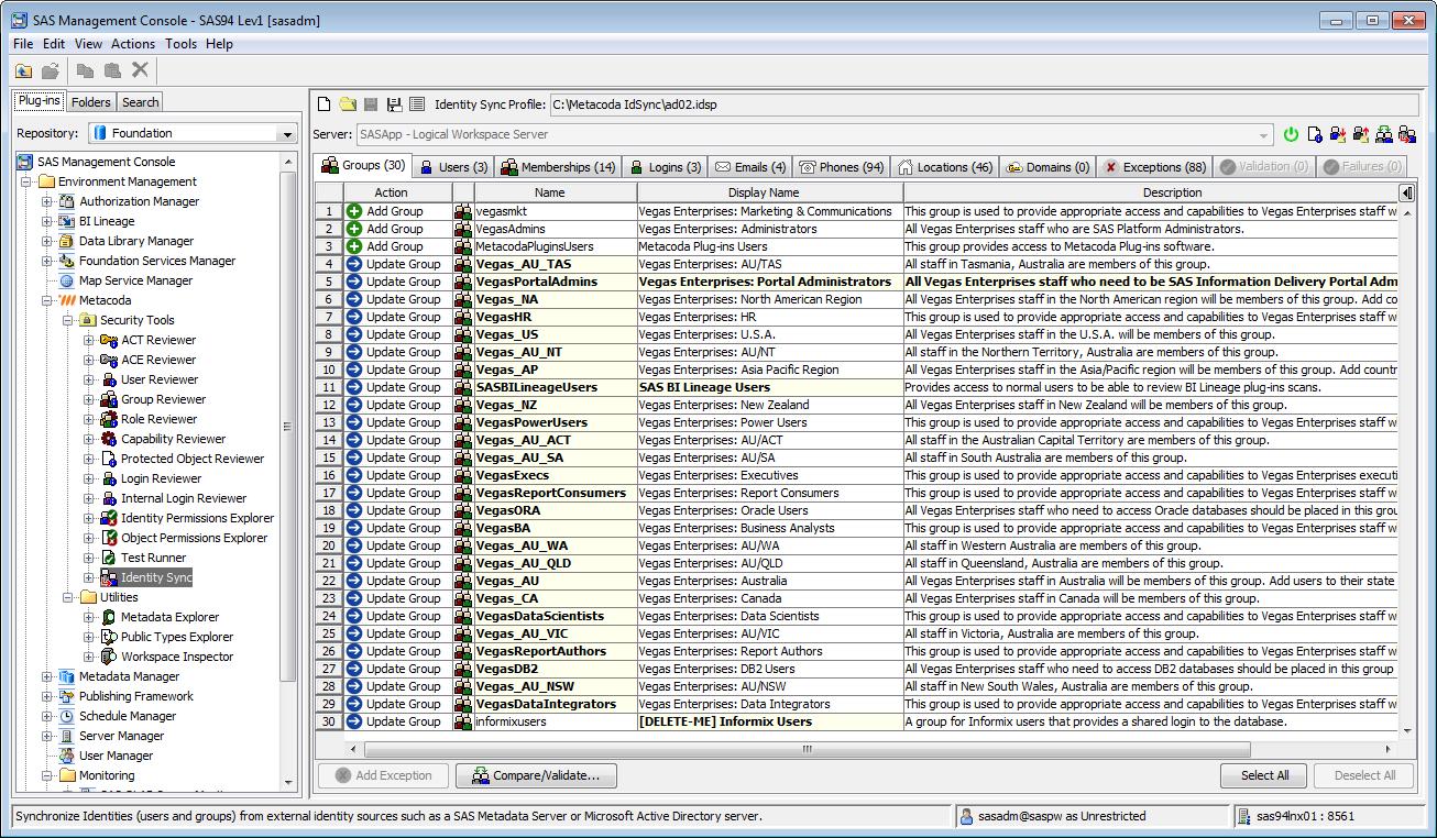 Metacoda Security Plug-ins: Identity Sync (Groups Tab)