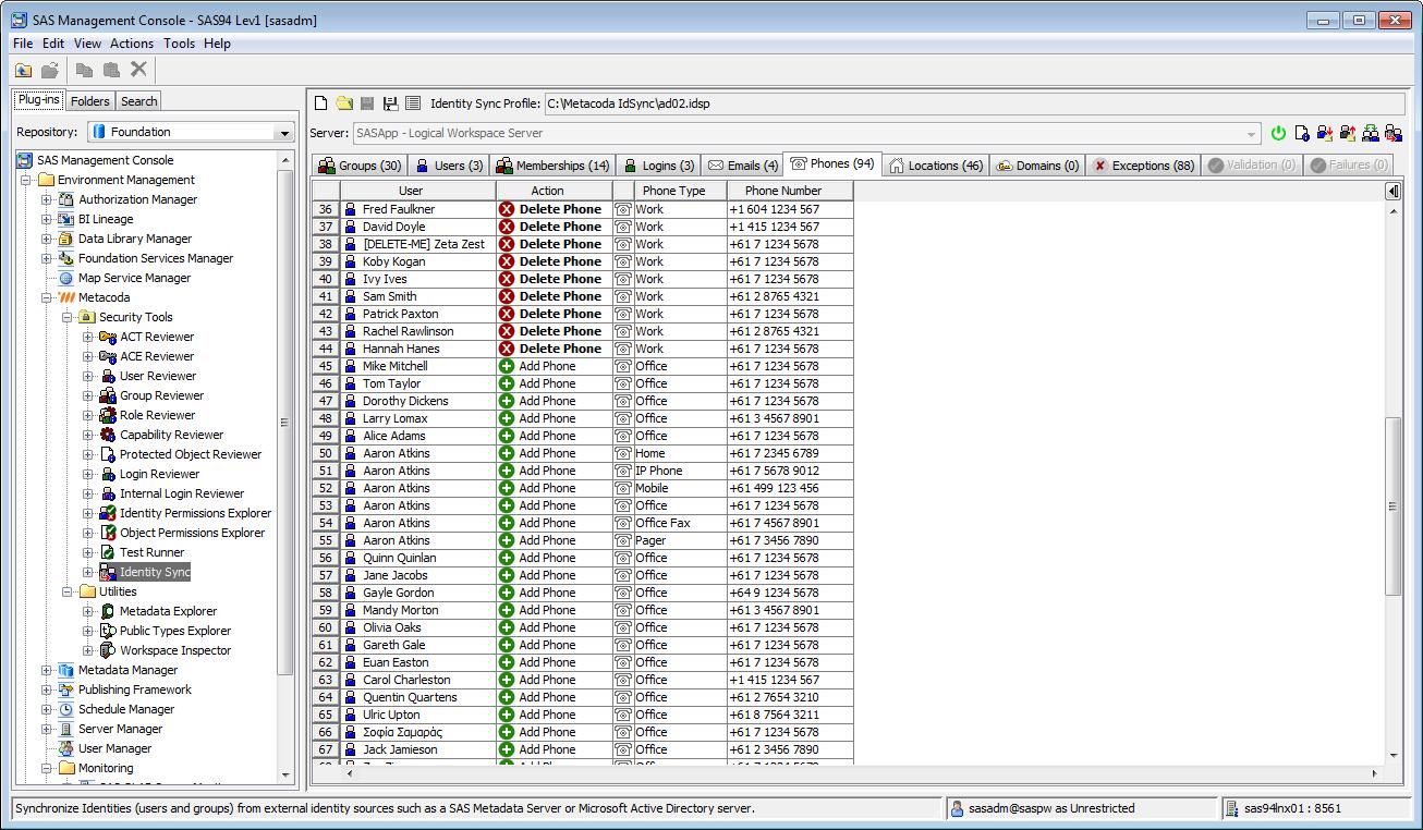 Metacoda Security Plug-ins: Identity Sync (Phones Tab)
