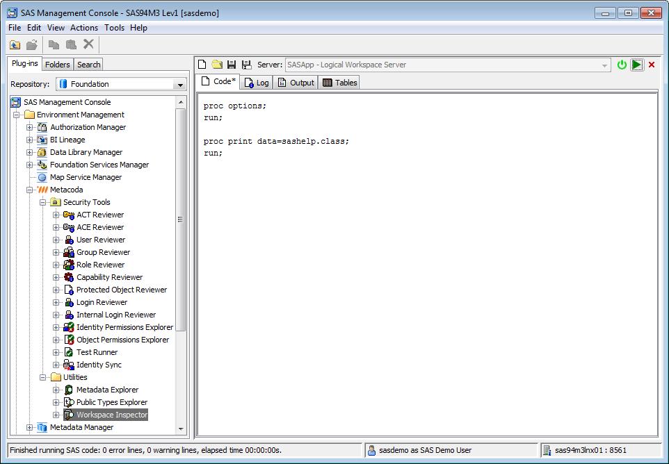 Metacoda Utility Plug-ins: Workspace Inspector (Code Tab)