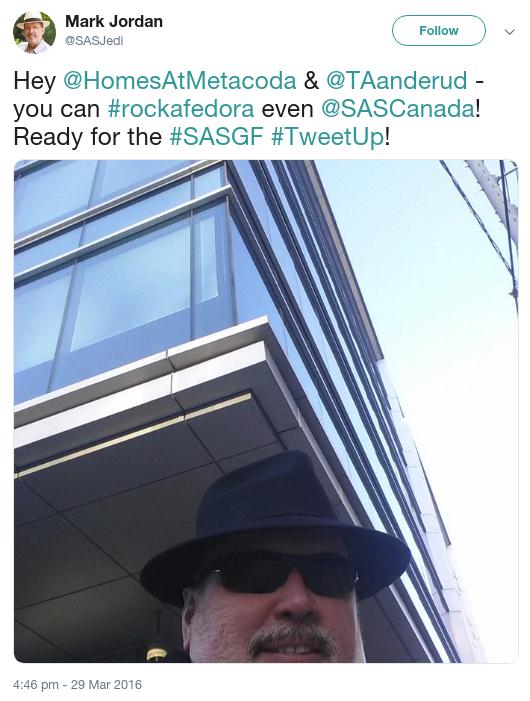 SAS Jedi tweet