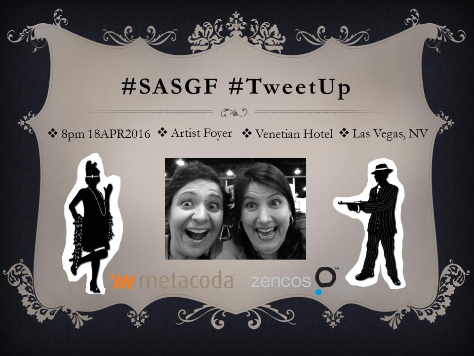 SASGF TweetUp 2016 gangster poster