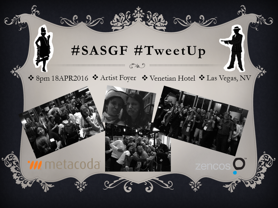 SASGF TweetUp 2016 group gangster poster