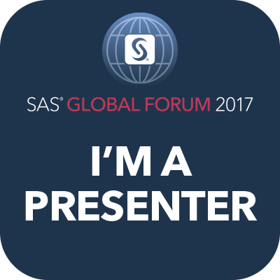 SAS Global Forum - I'm A Presenter