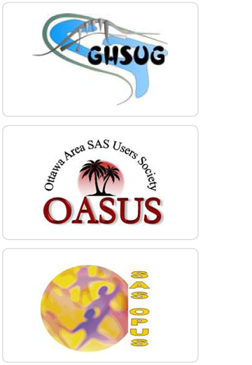 Canadian SAS User Group logos