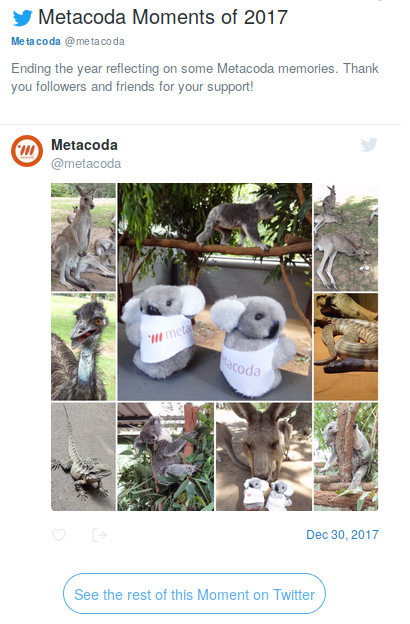 Metacoda Twitter Moment