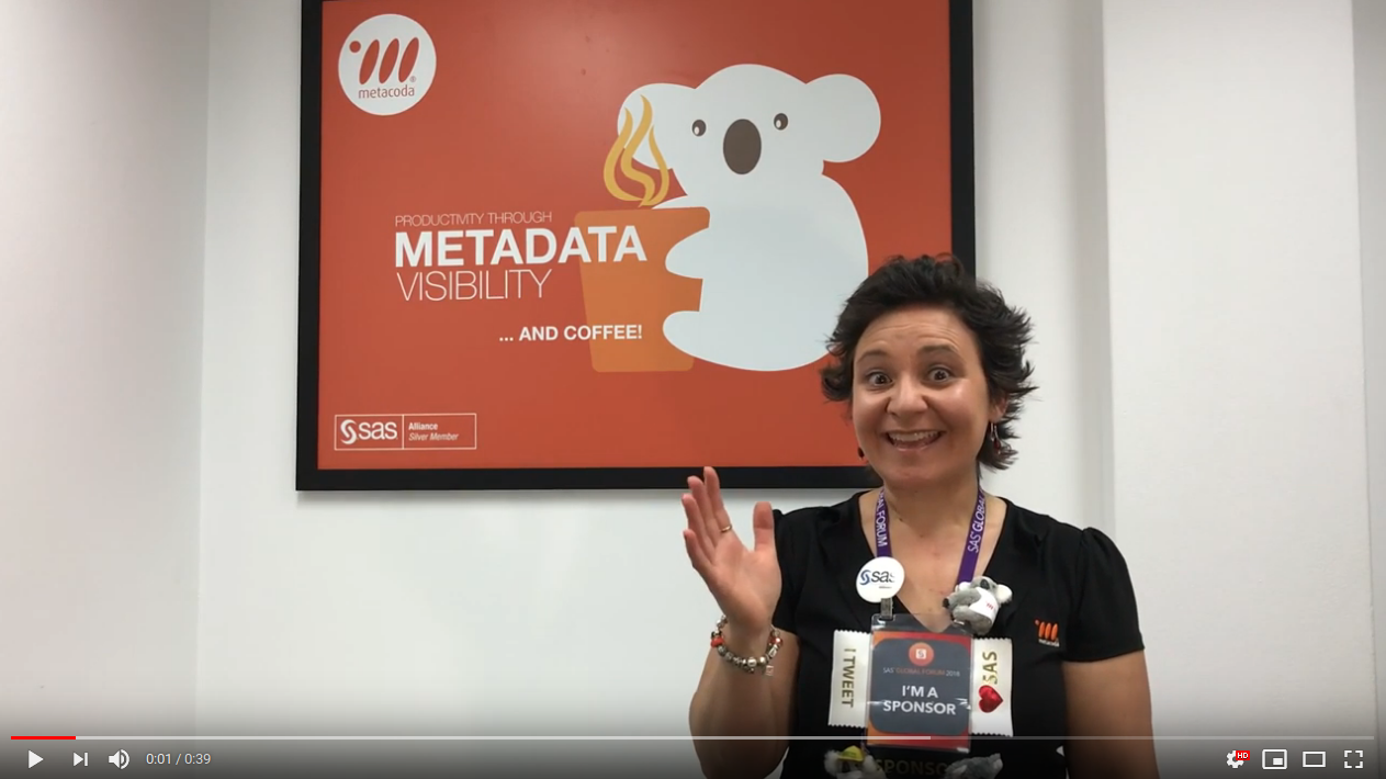 Metacoda SASGF sponsor YouTube video