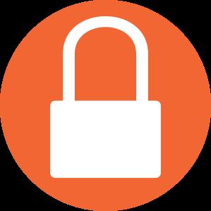 orange lock