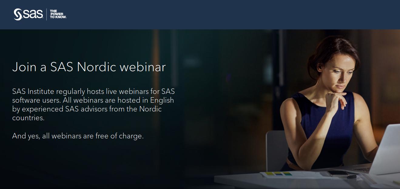 SAS Nordic webinar