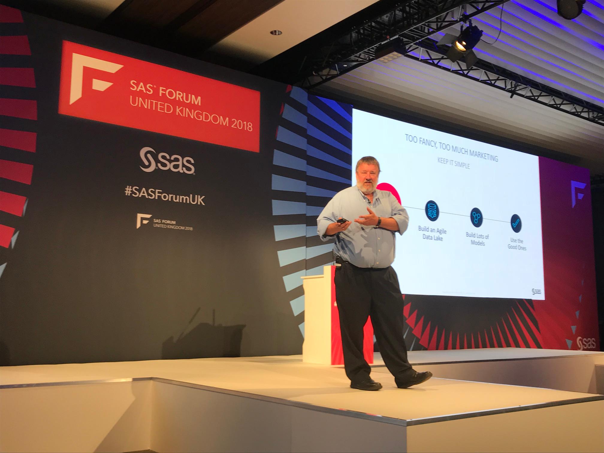 Paul Kent presents at SAS Forum UK