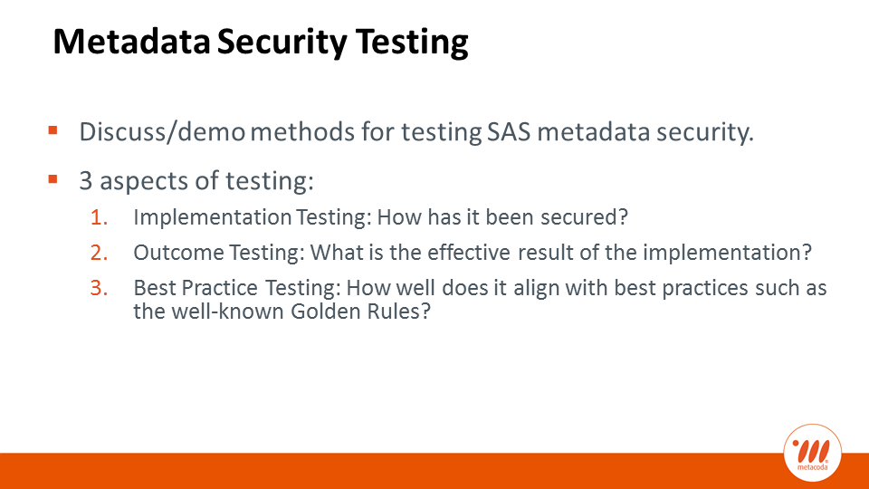 Metacoda - Metadata Security Testing