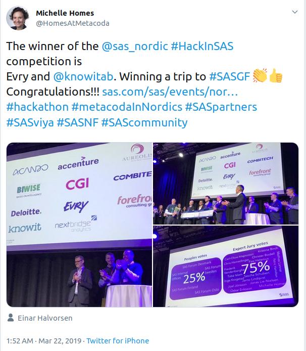 #HackInSAS 2019 winners