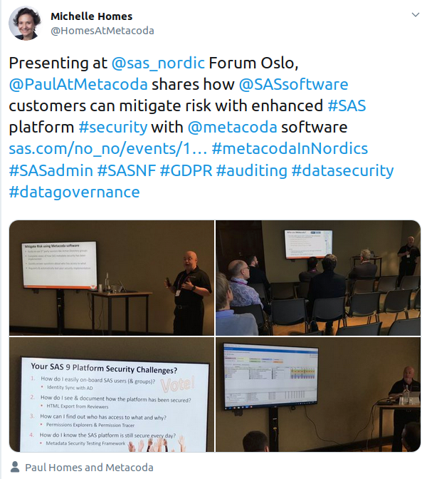 Paul presenting at SASNF Oslo