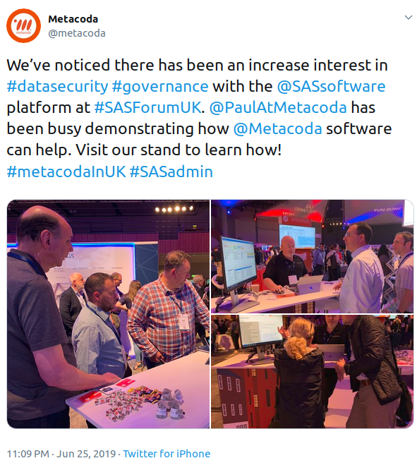 #SASForumUK metacoda booth - paul demonstrating