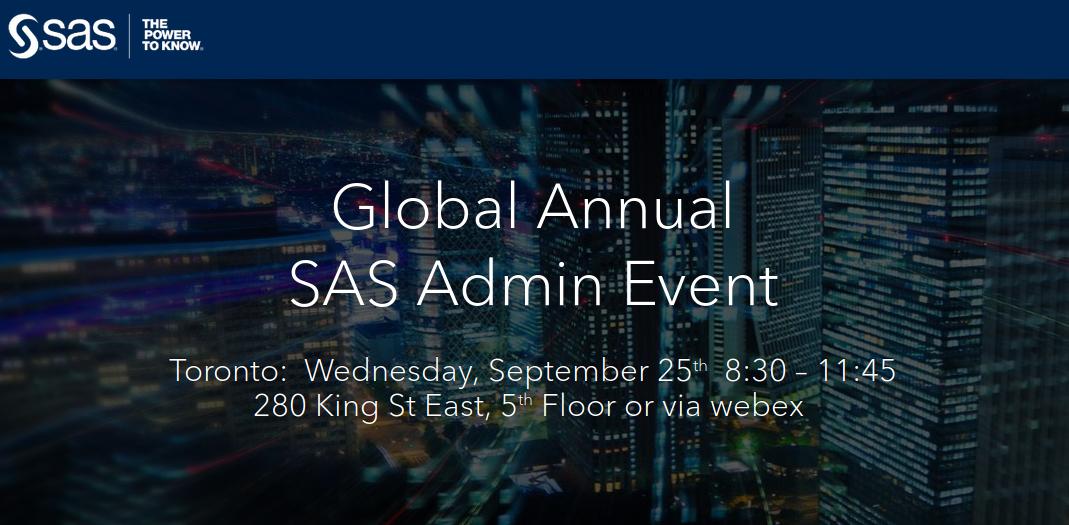 SAS Admin Event