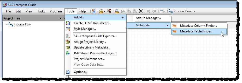 Metacoda Custom Tasks Tools Menu