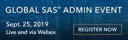 Global Annual SAS Admin Event