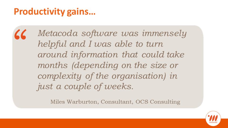 Metacoda testimonial Miles Warburton