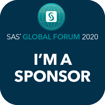 SAS Global Forum 2020, I'm a sponsor badge