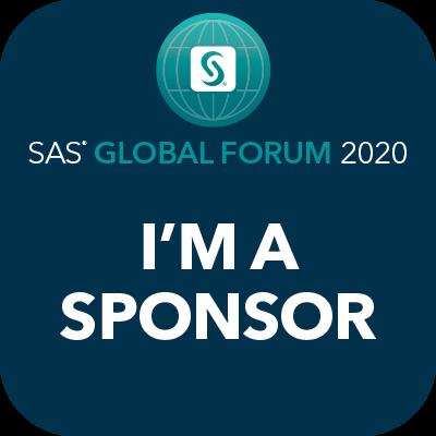 SAS Global Forum 2020, I'm a sponsor badge