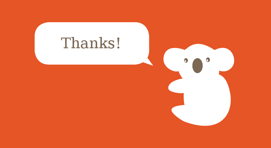 Metacoda koala thanks!