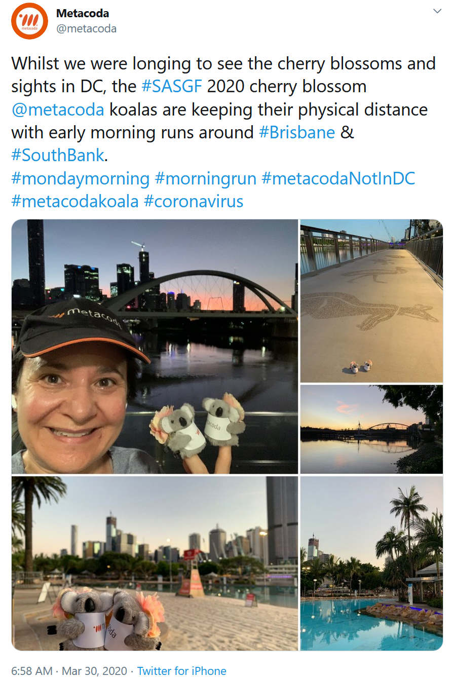 Staying in Brisbane during March 2020 #metacodaNotInDC