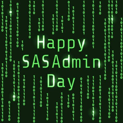 Happy SASAdminDay