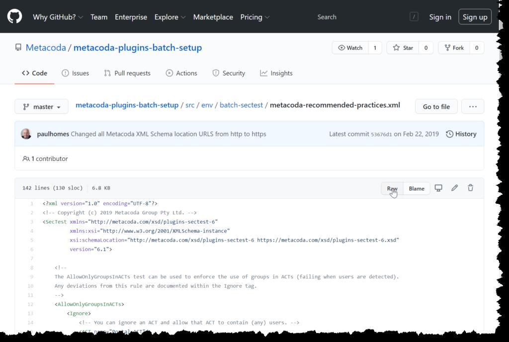 Metacoda Recommended Practice Test GitHub