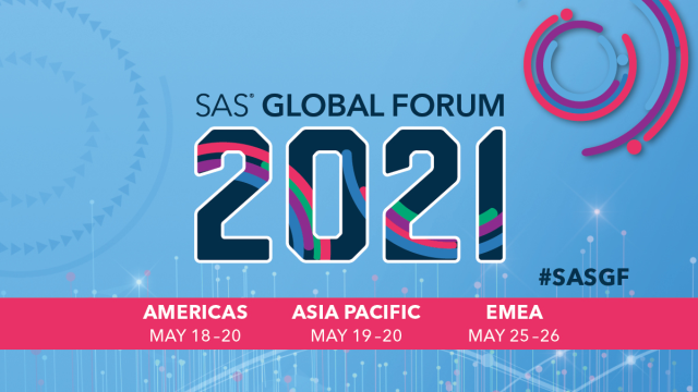 SAS Global Forum 2021 dates